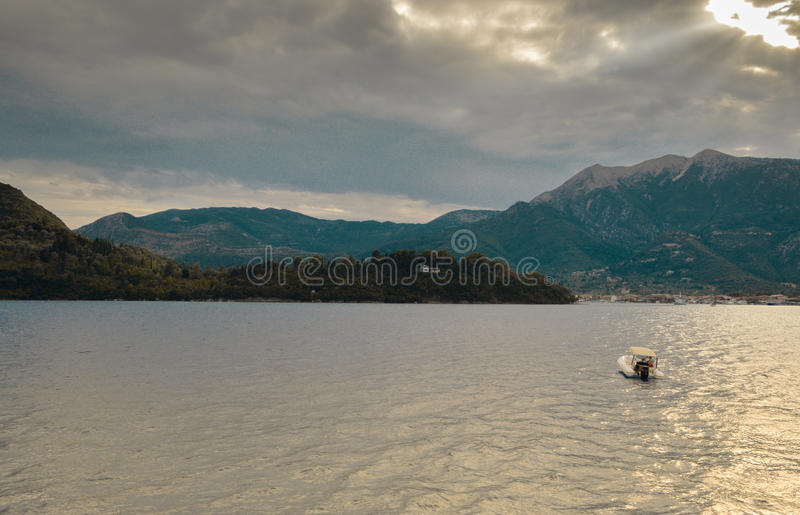Mountains and Sea royalty free stock image