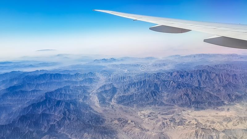 Mountains seen from the upper corner and see the beauty of the O stock photo