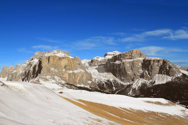 Mountains Of  Sella Group Stock Photo