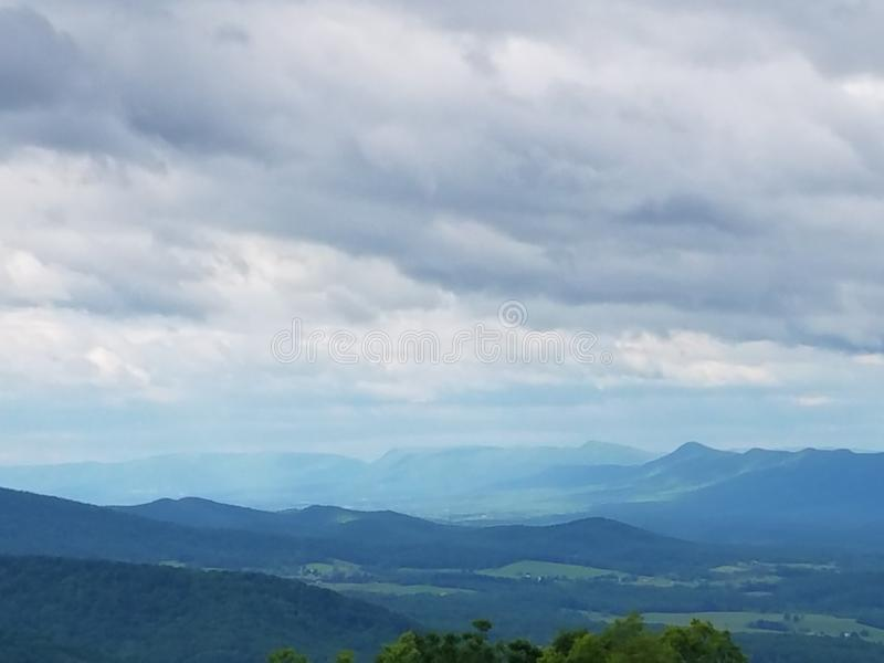 Mountains of Shenandoah Valley stock image