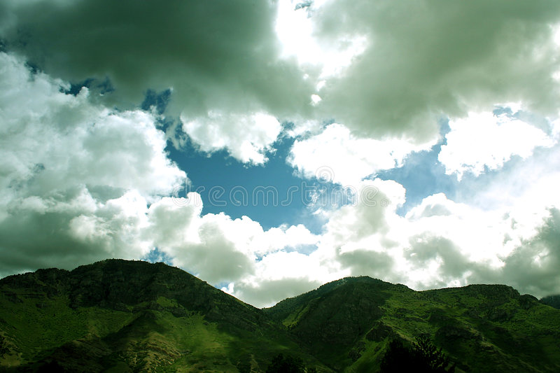 Download Mountains and sky stock photo. Image of many, mountains, green - 3206