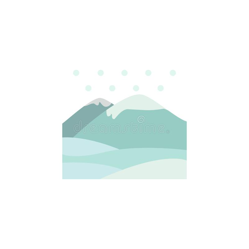 Mountains snow color icon. Elements of winter wonderland multi colored icons. Premium quality graphic design icon stock illustration
