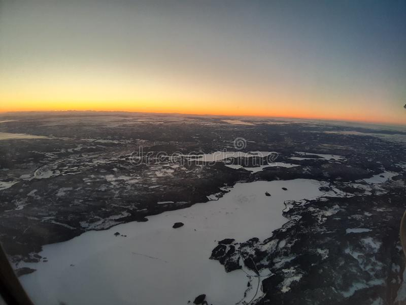 Horizont. Mountains snow horizon skye sunrise horizont royalty free stock image