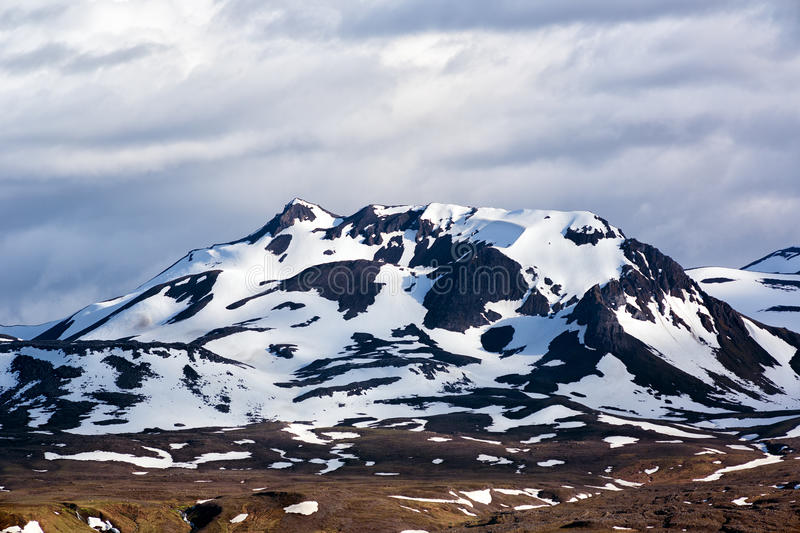 Mountains with snow in Iceland. royalty free stock photos
