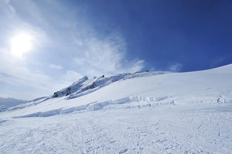 Download Mountains With Snow In Winter Stock Photo - Image: 26033716