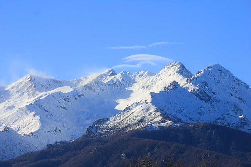 Mountains with snow in winter in Italy royalty free stock photos