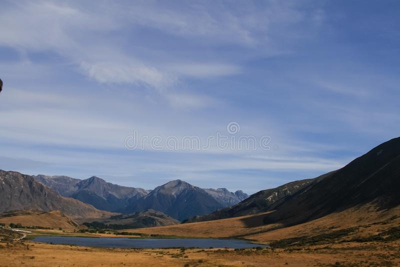 Mountains of the Southern Alps . New Zealand landscapes stock photography