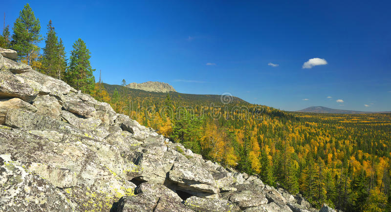Mountains of Southern Ural. Russia, South Ural. Golden Autumn on TAGANAY stock images