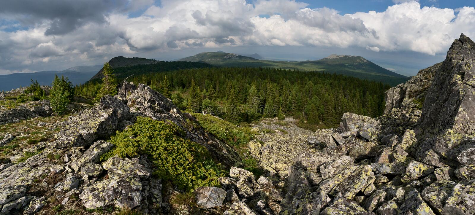 Mountains of Southern Urals. Russia stock photography