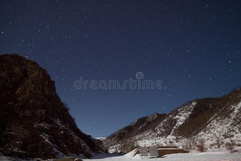 Download Mountains and stars stock photo. Image of star, blue - 28857060