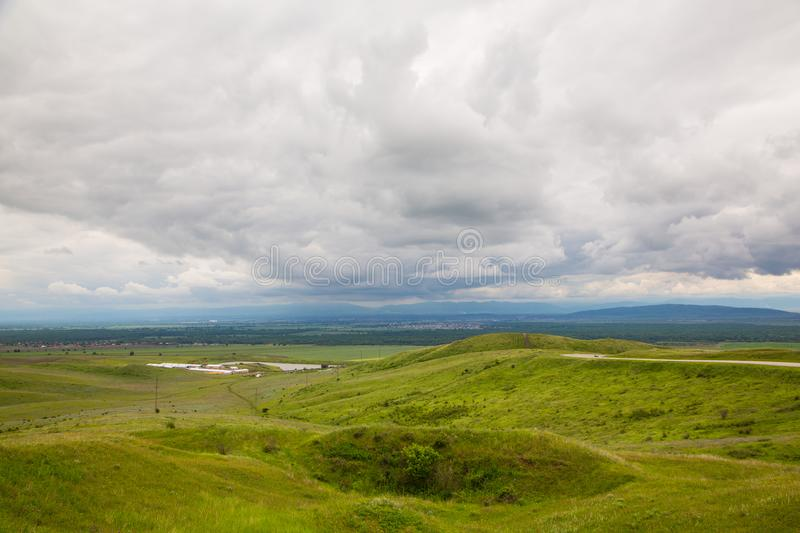 In the mountains before the storm. Mountain landscape in anticipation of thunderstorms royalty free stock images