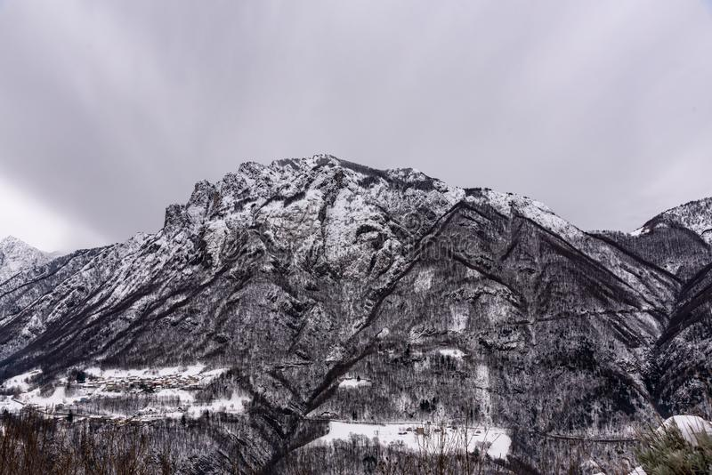 Mountains in the storm royalty free stock photography