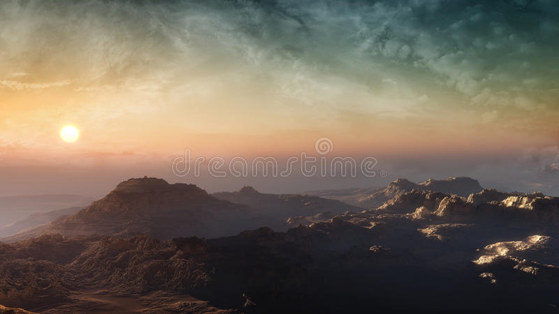 Mountains In Sunset stock image