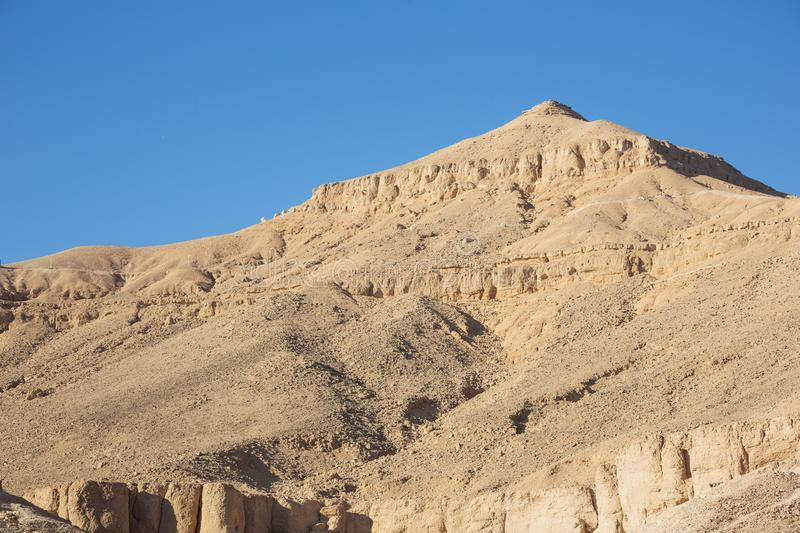Mountains surrounding the Valley of the Kings. Near Luxor stock image