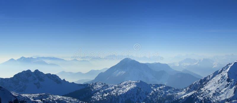 Mountains top panorama stock photography
