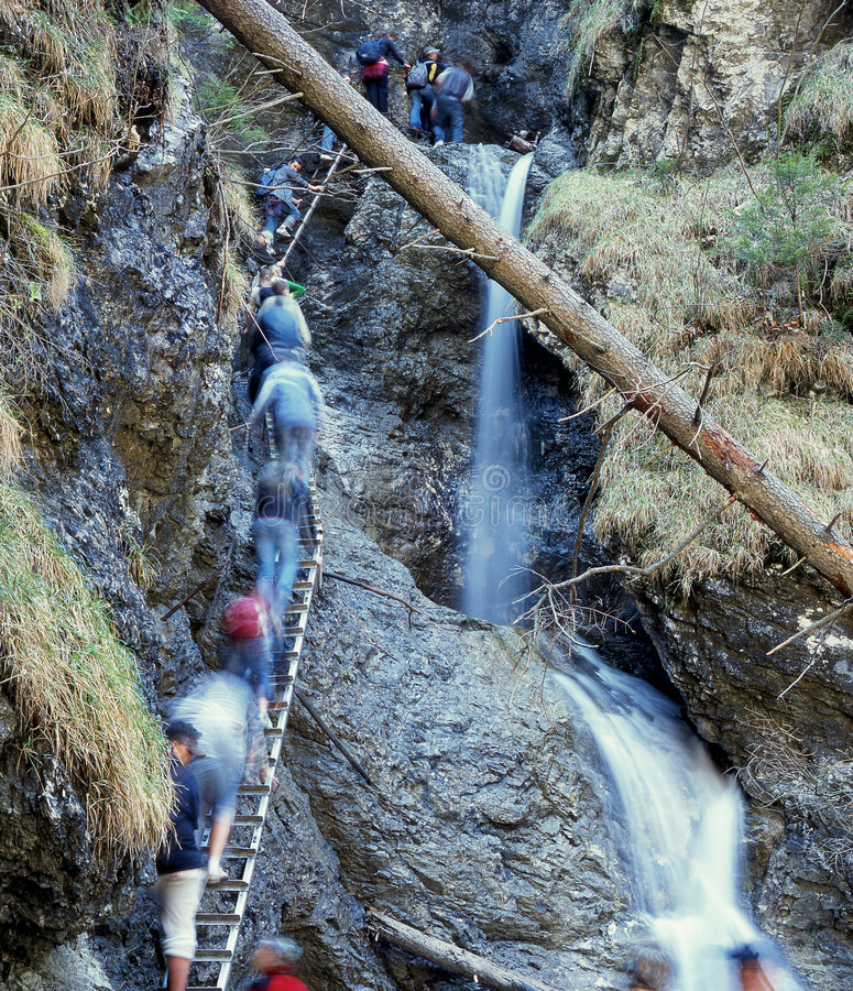Download Mountains tourism stock image. Image of tour, ladder, brook - 361427