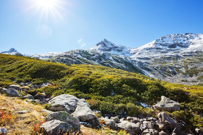 Mountains in Turkey. Autumn season in Kackar Mountains in the Black Sea region of Turkey. Beautiful mountains landscape stock images