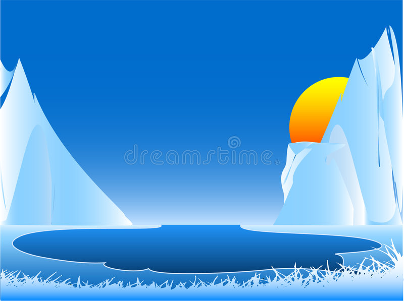 Download Mountains View stock illustration. Image of water, idea - 2297151