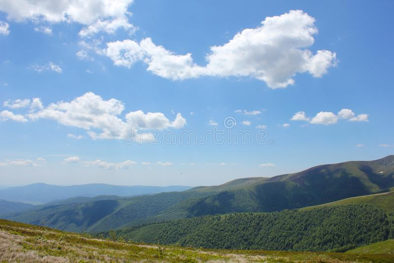 Mountains view Carpathians royalty free stock image