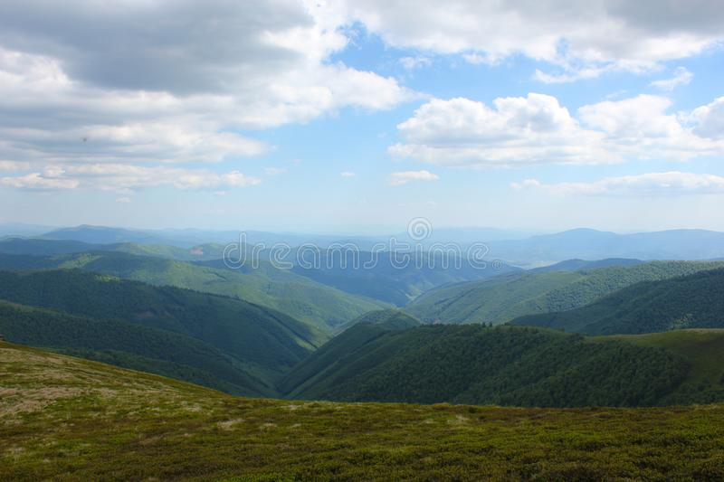 Mountains view Carpathians stock photography