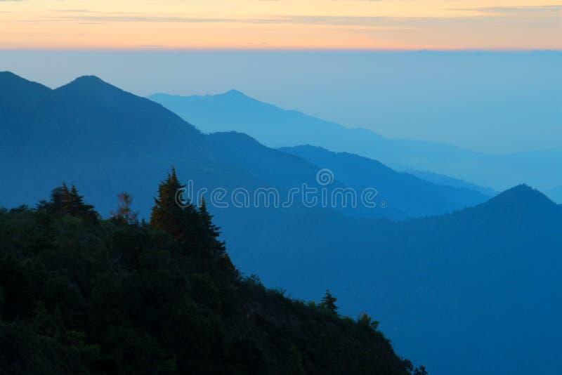 Mountains view at Doi Intanon national park. Chiangmai, Thailand stock photo