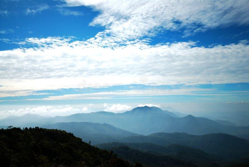 Mountains view at Doi Intanon national park. Chiangmai, Thailand royalty free stock photo