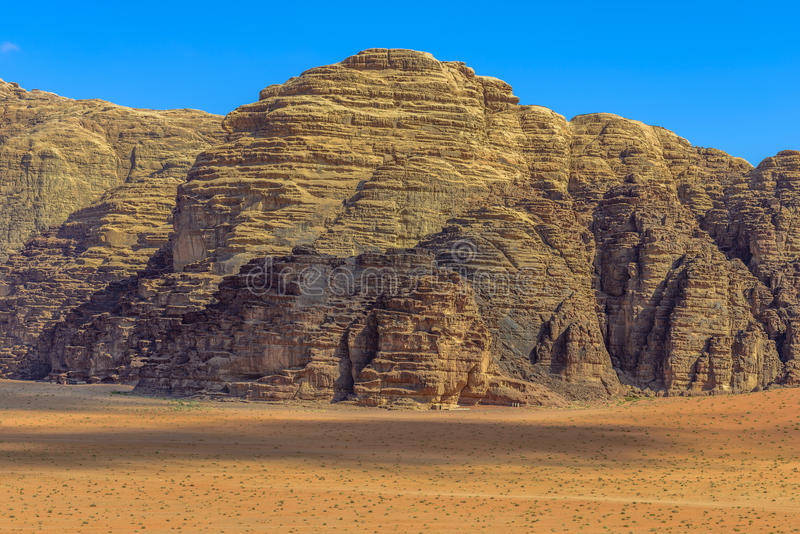 Mountains of Wadi Rum desert royalty free stock photo