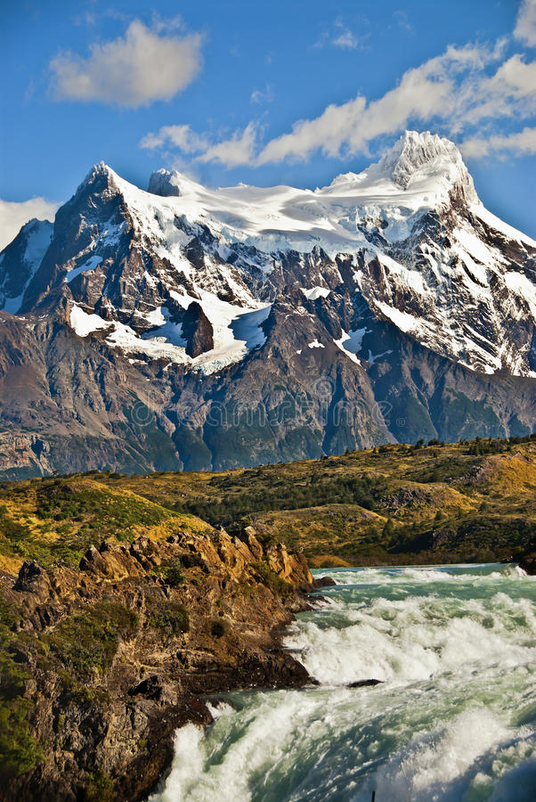 Download Mountains And Waterfall, Chile Stock Photo - Image: 19203226