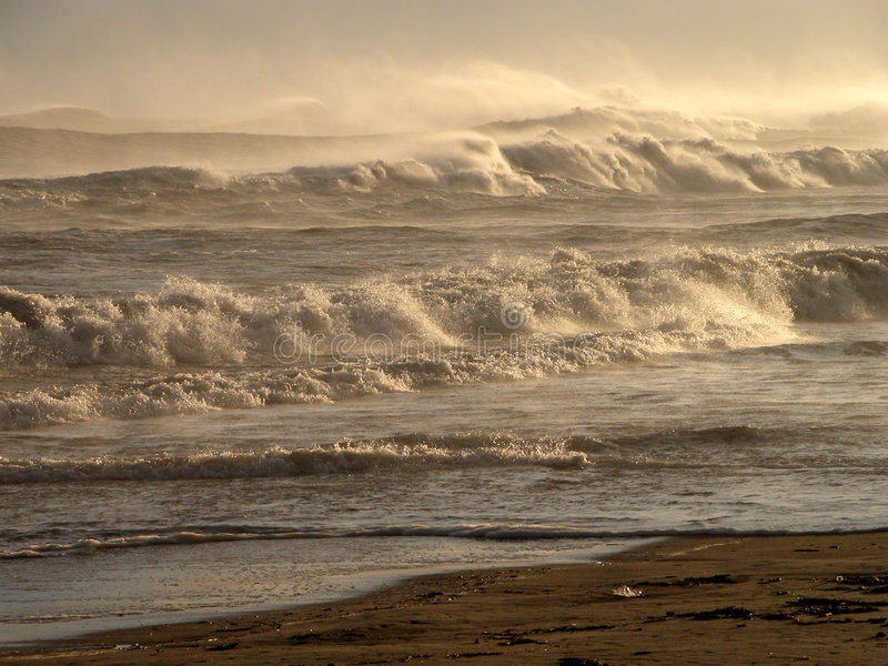 Mountains of waves.... royalty free stock images