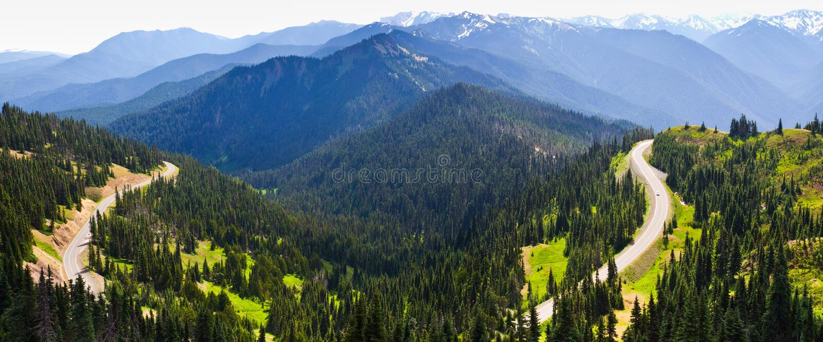 Mountains and winding road, Olympic National Park