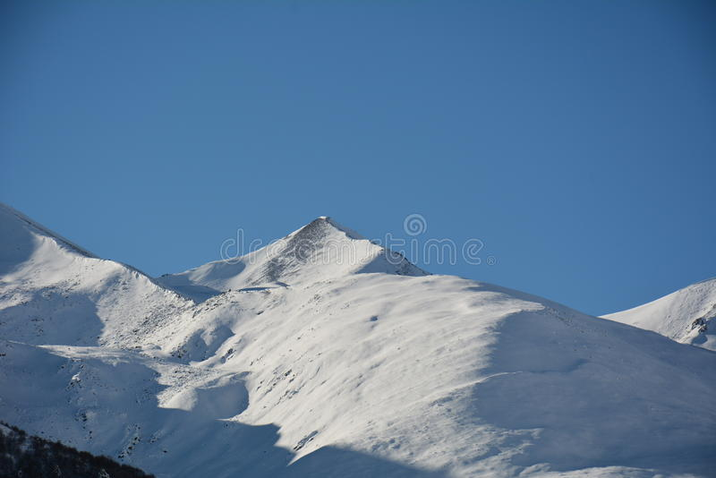 Mountains winter royalty free stock photography