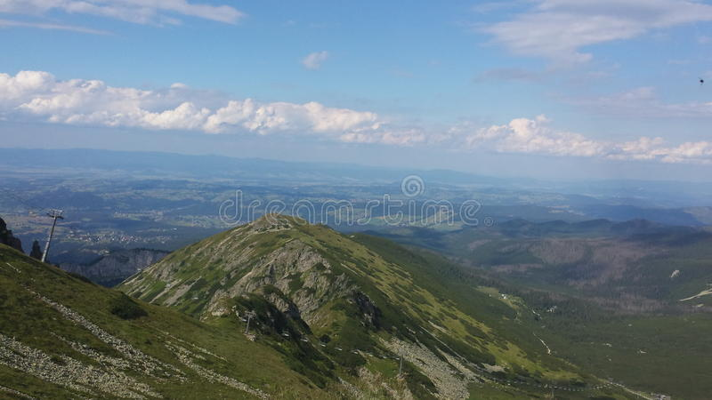 Mountains in Zakopane royalty free stock photos