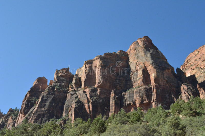 Mountains in Zion stock photos