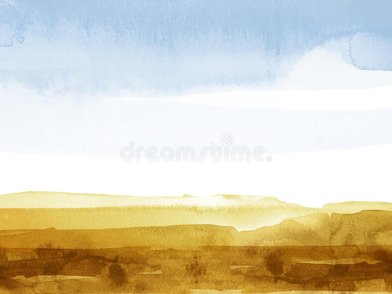 Mountainscape de la acuarela libre illustration