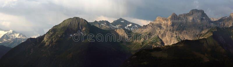 Mountainscape. View of a mountain range in summer stock photos