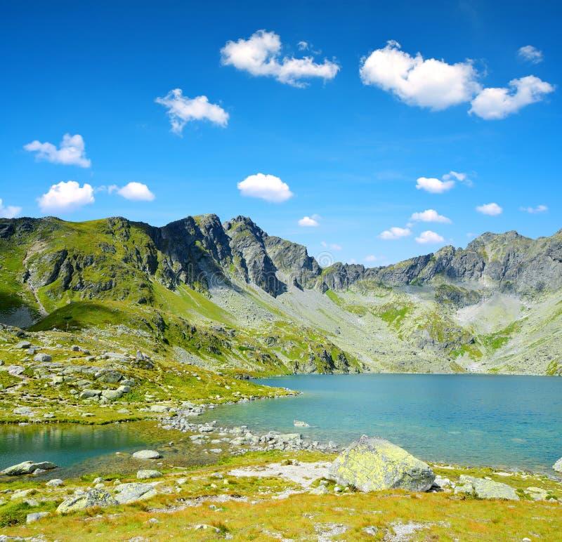 Mountainsee Hincovo-pleso in hohem Tatras stockfotografie