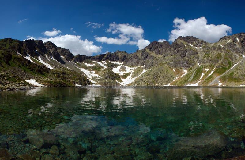 Mountainsee mit reinem Wasser lizenzfreie stockfotografie