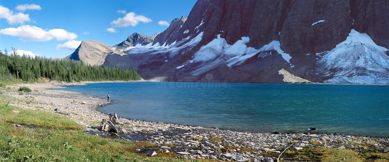 Mountainsee-Panorama lizenzfreie stockbilder