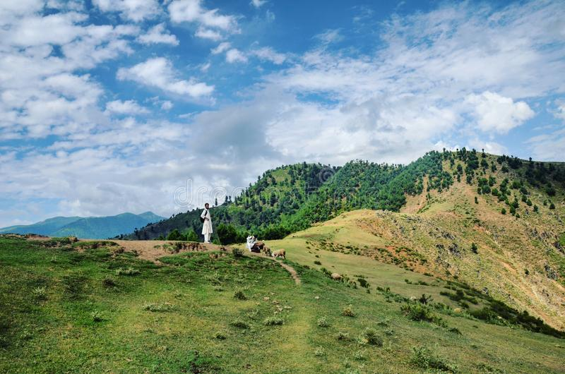 The Mountainside Kashmir stock images