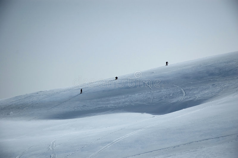 Mountainside ski slope royalty free stock images