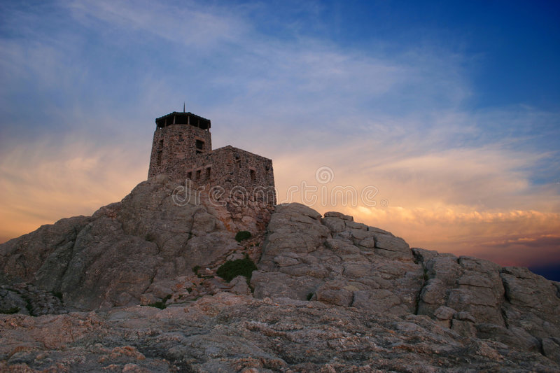 Mountaintop Fortress Royalty Free Stock Images