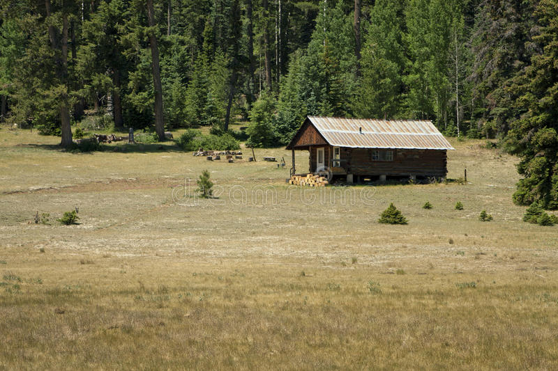 Mountaintop Rustic Vacation Cabin royalty free stock image