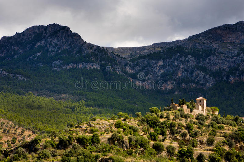Mountaintop Village Royalty Free Stock Photography