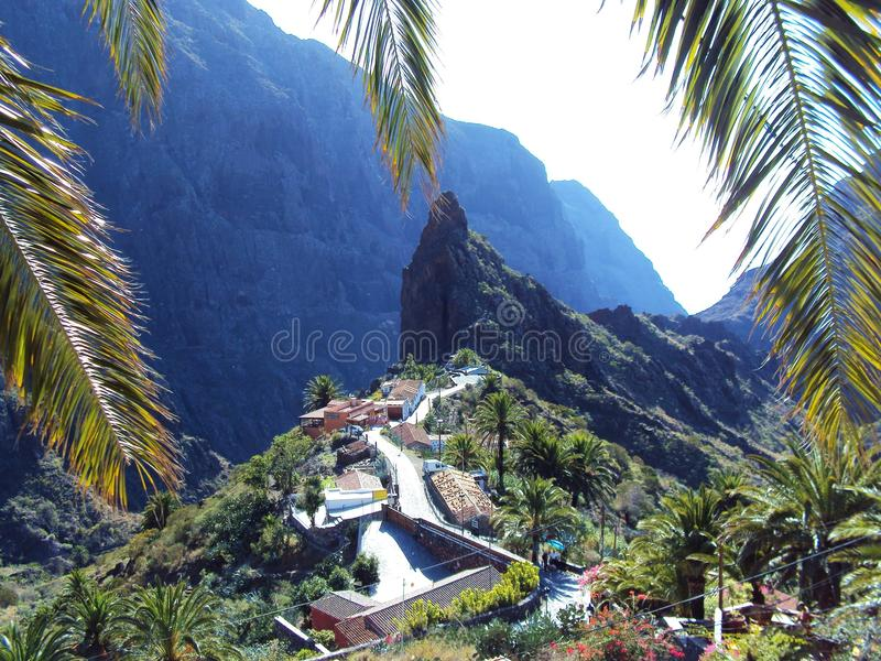 Mountaintop village stock photos