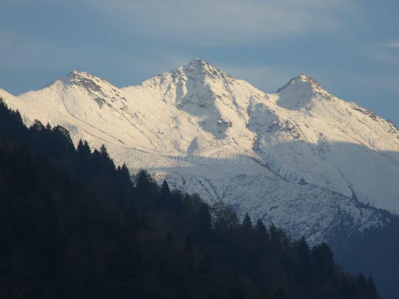 mountaintops fotografia stock