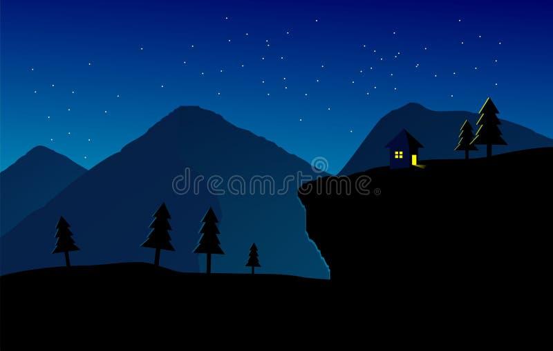 Mountaints mieszkanie krajobrazu grafika zdjęcia stock