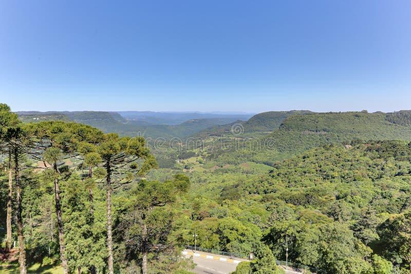 Mountais krajobraz, Gramado, Brazylia zdjęcie stock