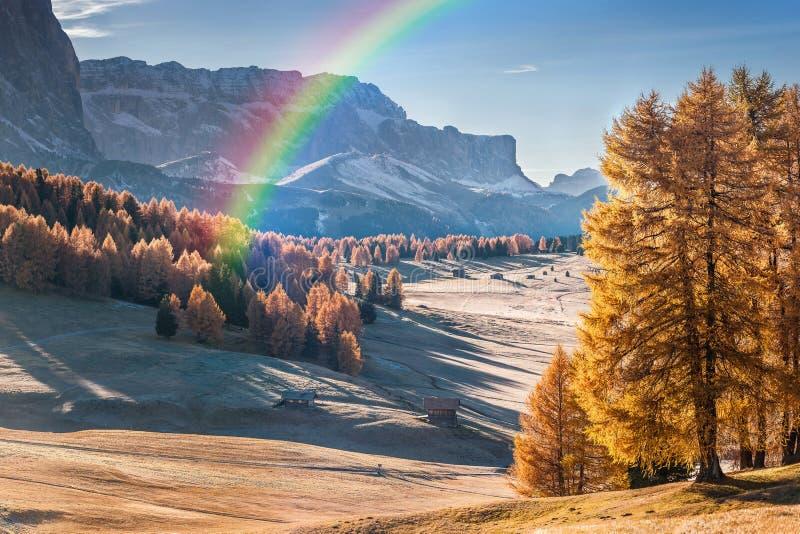 Mountan w Alpe De Siusi obrazy stock