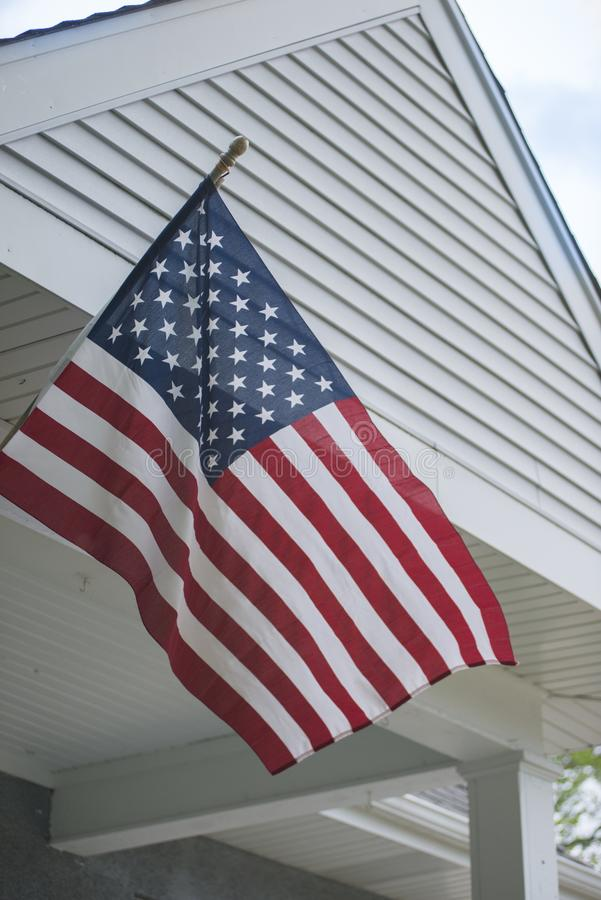 Mounted American Flag. An American flag out in the spring time royalty free stock photos