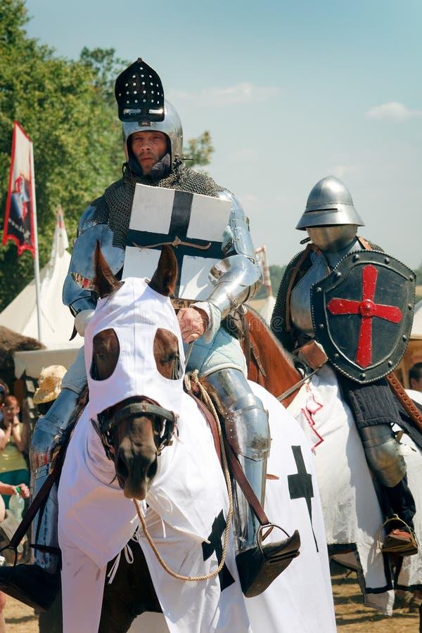 Mounted Knights at Grunwald royalty free stock photography